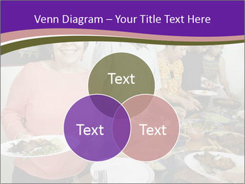 Wman holding a plate of food PowerPoint Template - Slide 33