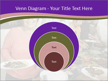 Wman holding a plate of food PowerPoint Template - Slide 34
