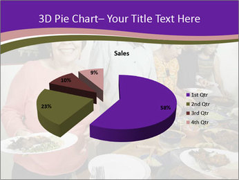 Wman holding a plate of food PowerPoint Template - Slide 35