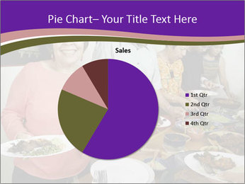 Wman holding a plate of food PowerPoint Template - Slide 36