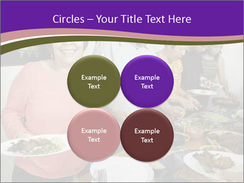 Wman holding a plate of food PowerPoint Template - Slide 38