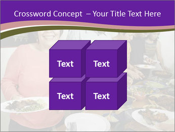 Wman holding a plate of food PowerPoint Template - Slide 39
