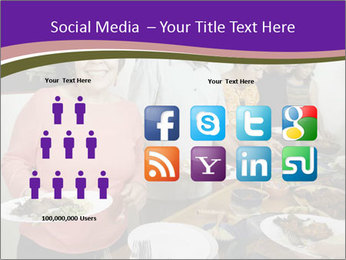 Wman holding a plate of food PowerPoint Template - Slide 5