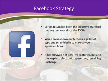 Wman holding a plate of food PowerPoint Template - Slide 6