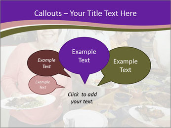 Wman holding a plate of food PowerPoint Template - Slide 73