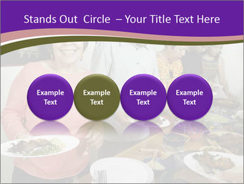 Wman holding a plate of food PowerPoint Template - Slide 76