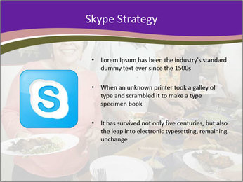 Wman holding a plate of food PowerPoint Template - Slide 8