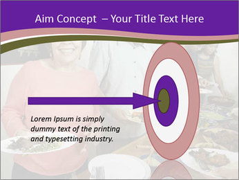 Wman holding a plate of food PowerPoint Template - Slide 83