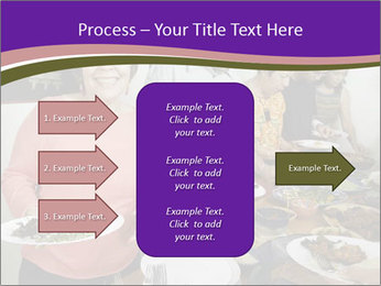 Wman holding a plate of food PowerPoint Template - Slide 85
