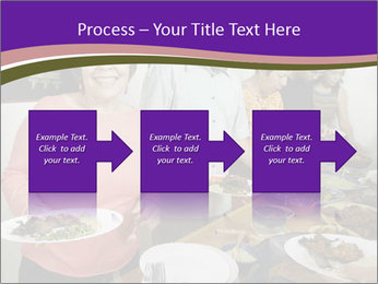 Wman holding a plate of food PowerPoint Template - Slide 88