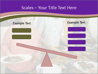 Wman holding a plate of food PowerPoint Template - Slide 89