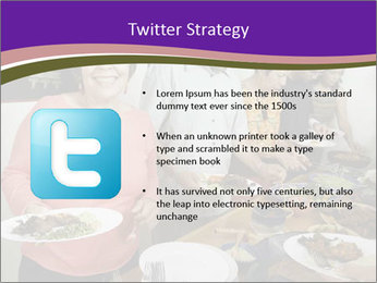 Wman holding a plate of food PowerPoint Template - Slide 9