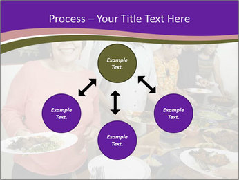 Wman holding a plate of food PowerPoint Template - Slide 91
