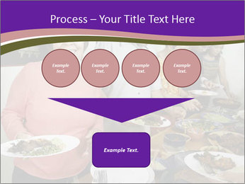 Wman holding a plate of food PowerPoint Template - Slide 93
