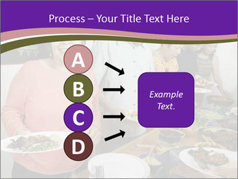 Wman holding a plate of food PowerPoint Template - Slide 94