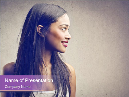 Black woman PowerPoint Template