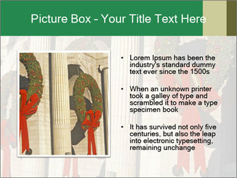 Christmas Wreaths PowerPoint Templates - Slide 13