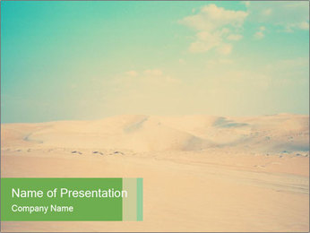 Desert PowerPoint Template - Slide 1