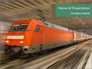 German train PowerPoint Templates