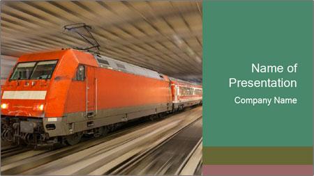 German train PowerPoint Template