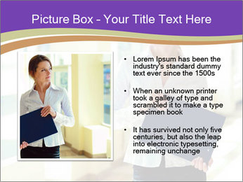 Woman in office PowerPoint Template - Slide 13