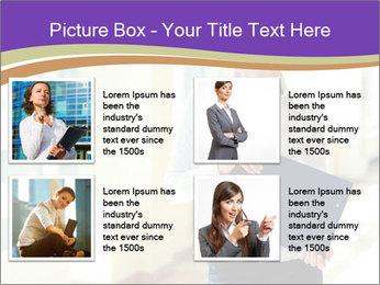 Woman in office PowerPoint Template - Slide 14