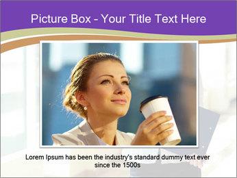 Woman in office PowerPoint Template - Slide 15