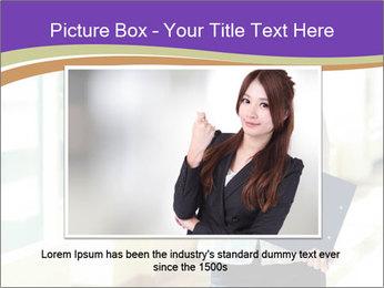 Woman in office PowerPoint Template - Slide 16