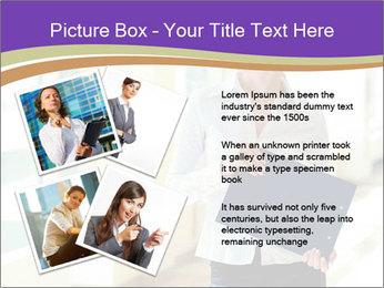 Woman in office PowerPoint Template - Slide 23