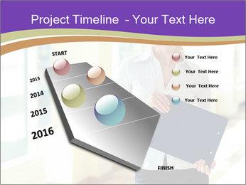 Woman in office PowerPoint Template - Slide 26