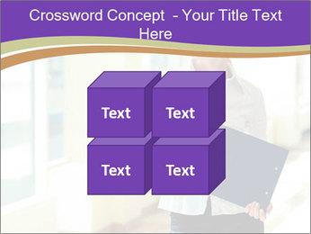 Woman in office PowerPoint Template - Slide 39