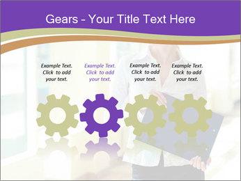 Woman in office PowerPoint Template - Slide 48