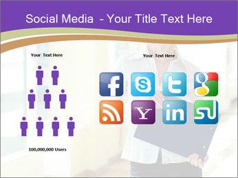 Woman in office PowerPoint Template - Slide 5