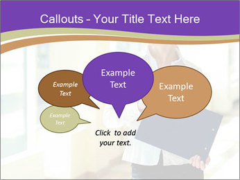 Woman in office PowerPoint Template - Slide 73