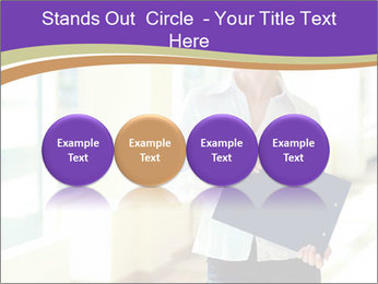 Woman in office PowerPoint Template - Slide 76