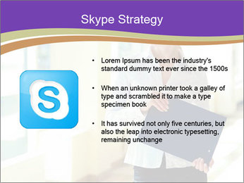 Woman in office PowerPoint Template - Slide 8