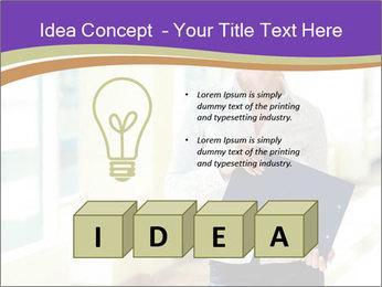 Woman in office PowerPoint Template - Slide 80