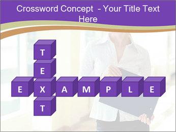 Woman in office PowerPoint Template - Slide 82
