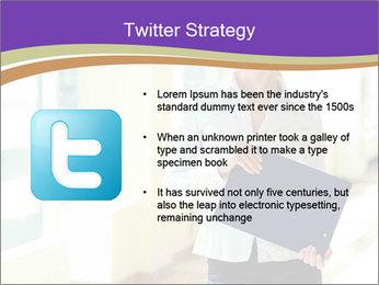 Woman in office PowerPoint Template - Slide 9