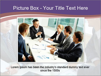 Two employees listening PowerPoint Template - Slide 16