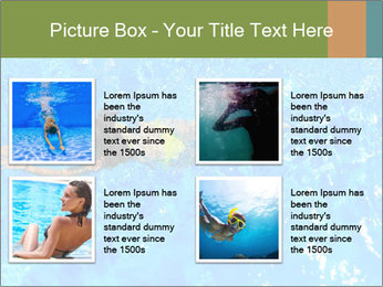Woman swimming PowerPoint Template - Slide 14