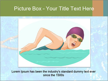 Woman swimming PowerPoint Template - Slide 15