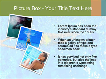 Woman swimming PowerPoint Template - Slide 17