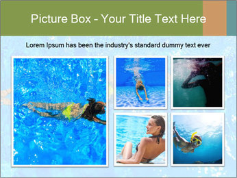 Woman swimming PowerPoint Template - Slide 19