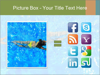 Woman swimming PowerPoint Template - Slide 21