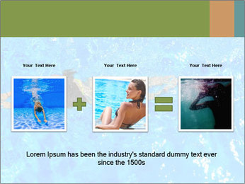 Woman swimming PowerPoint Template - Slide 22
