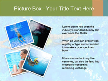 Woman swimming PowerPoint Template - Slide 23