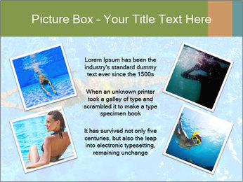 Woman swimming PowerPoint Template - Slide 24