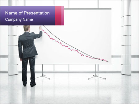 Man drawing PowerPoint Template