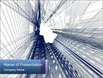 Abstract modern building PowerPoint Template - Slide 1